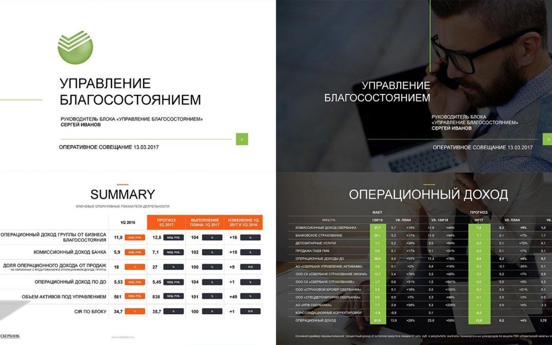 Презентация отчета Сбербанка перед министром экономики РФ