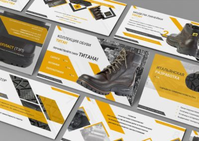 Презентация коллекции обуви Титан