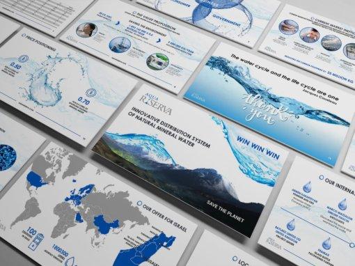 Портфолио презентации для компании Aqua Riserva